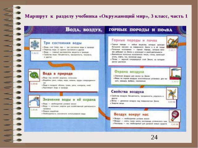 Маршрут к разделу учебника «Окружающий мир», 3 класс, часть 1
