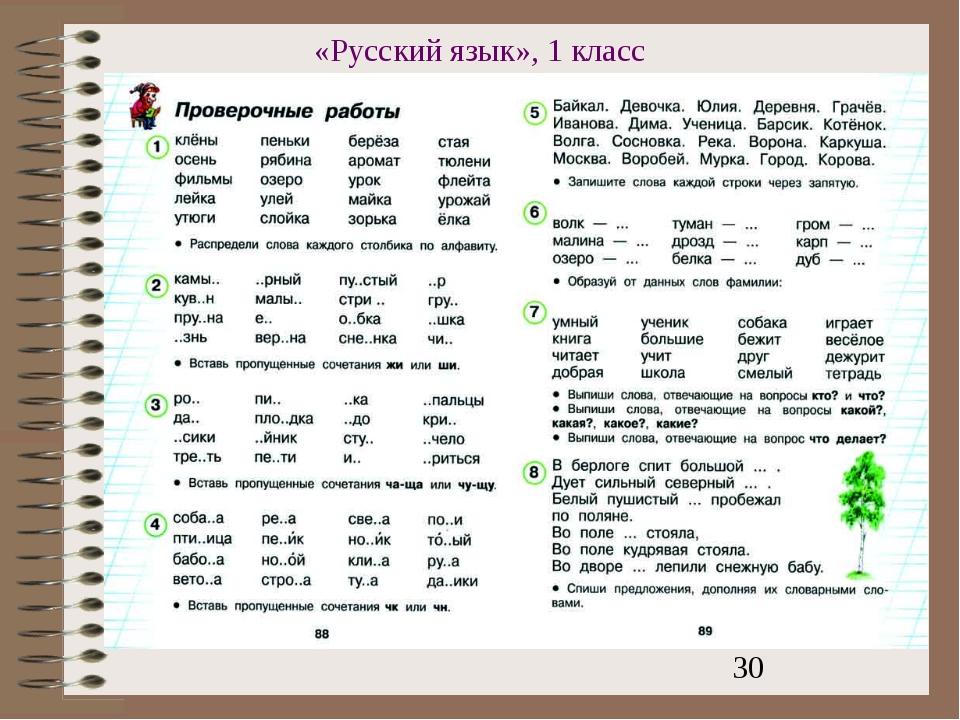 «Русский язык», 1 класс
