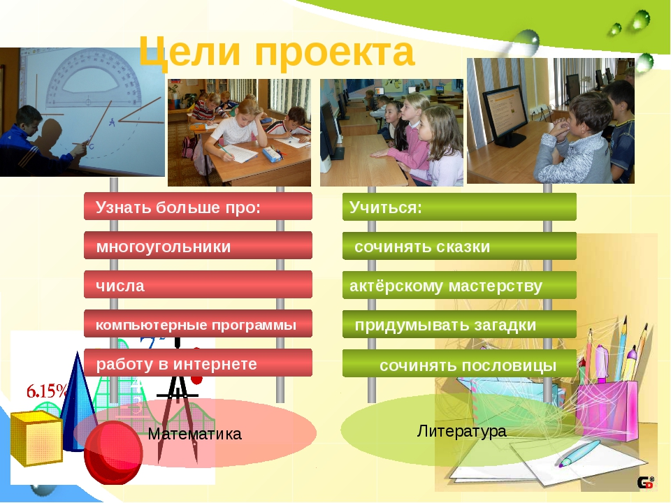 Математика Цели проекта сочинять пословицы Литература Узнать больше про: мног...