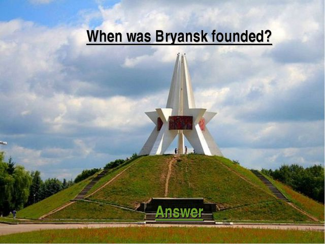 When was Bryansk founded? Answer