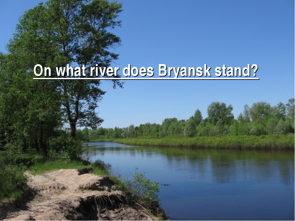 On what river does Bryansk stand? Answer