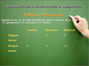 Задание № 24, стр. 95 «Моя математика» для 2-го класса, часть 3, Т.Е. Демидов