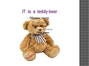 IT is a teddy-bear