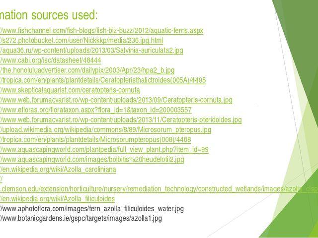 Information sources used: http://www.fishchannel.com/fish-blogs/fish-biz-buzz...