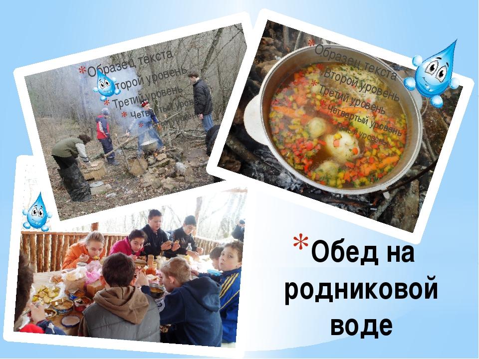 Обед на родниковой воде