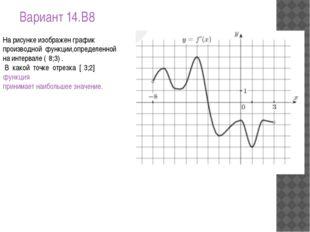 Вариант 14.B8 Нарисункеизображенграфик производной функции,определенной