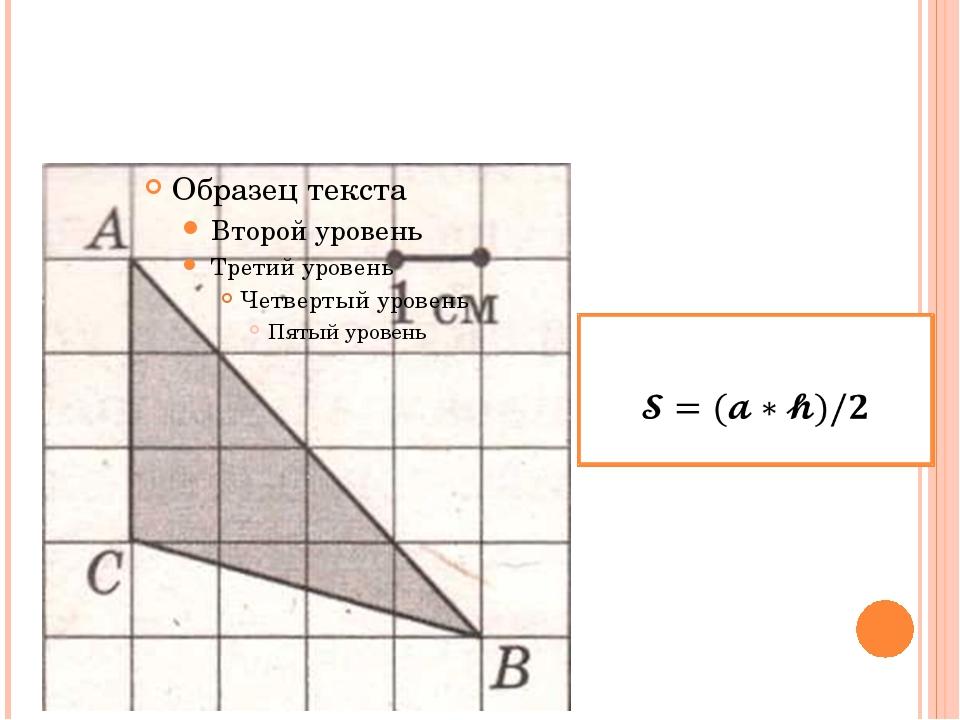 Формула площади треугольника