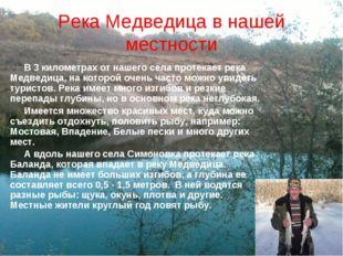 Река Медведица в нашей местности В 3 километрах от нашего села протекает река