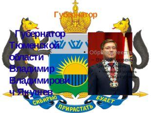 Губернатор Губернатор Тюменской области Владимир Владимирович Якушев