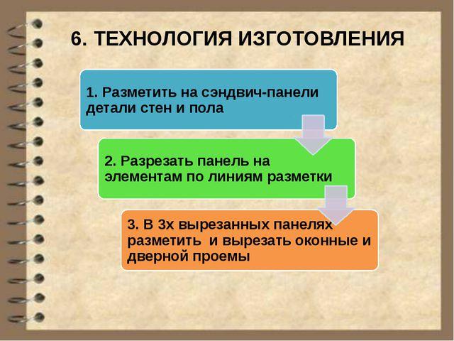 6. ТЕХНОЛОГИЯ ИЗГОТОВЛЕНИЯ