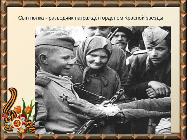 Сын полка - разведчик награждён орденом Красной звезды