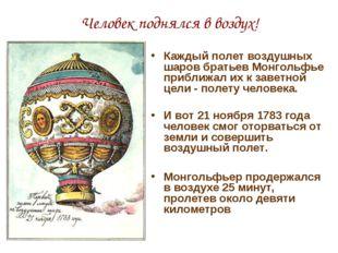 Человек поднялся в воздух! Каждый полет воздушных шаров братьев Монгольфье пр