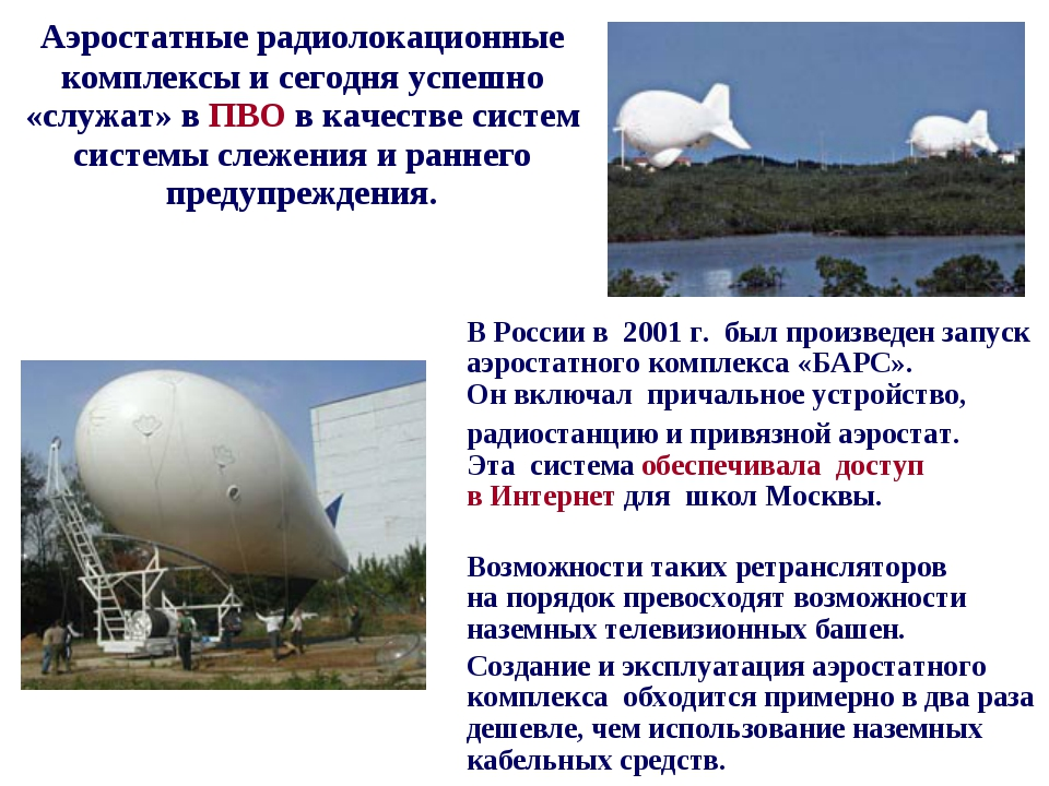 Аэростатные радиолокационные комплексы исегодня успешно «служат» вПВО вка...