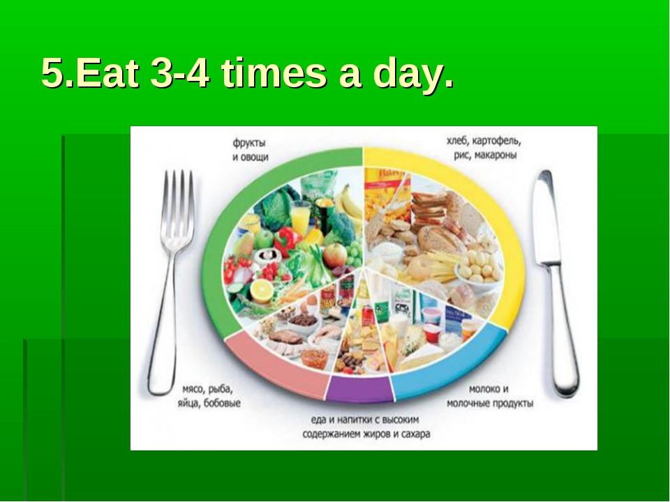 5.Eat 3-4 times a day.