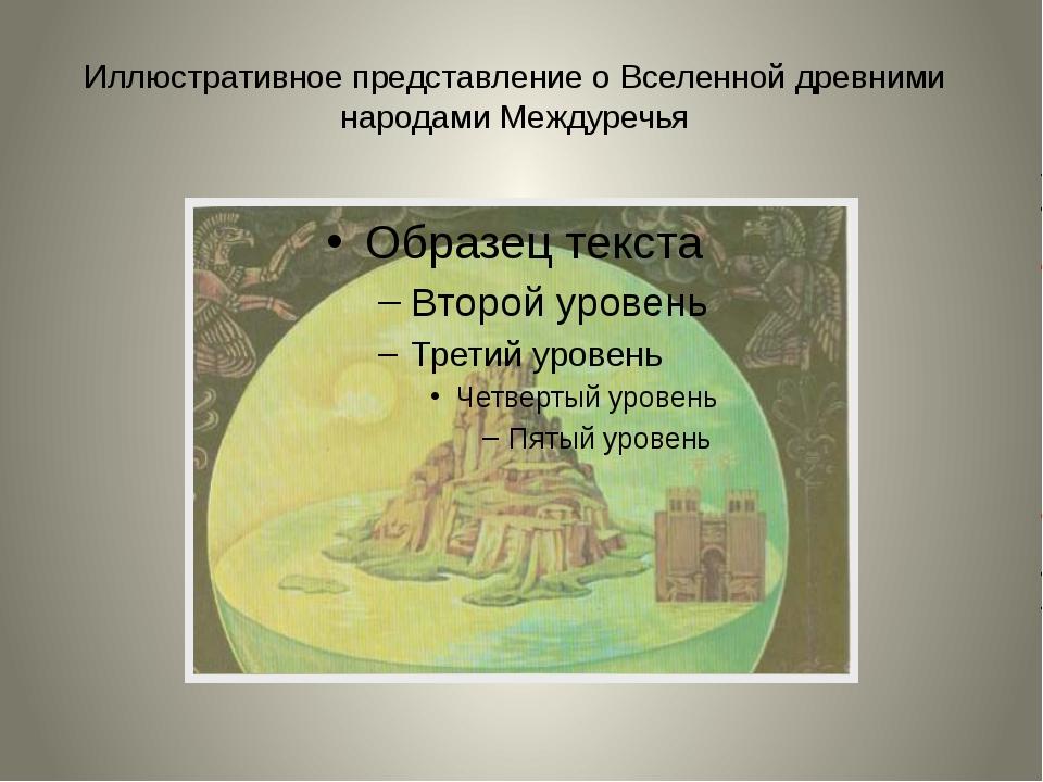Иллюстративное представление о Вселенной древними народами Междуречья