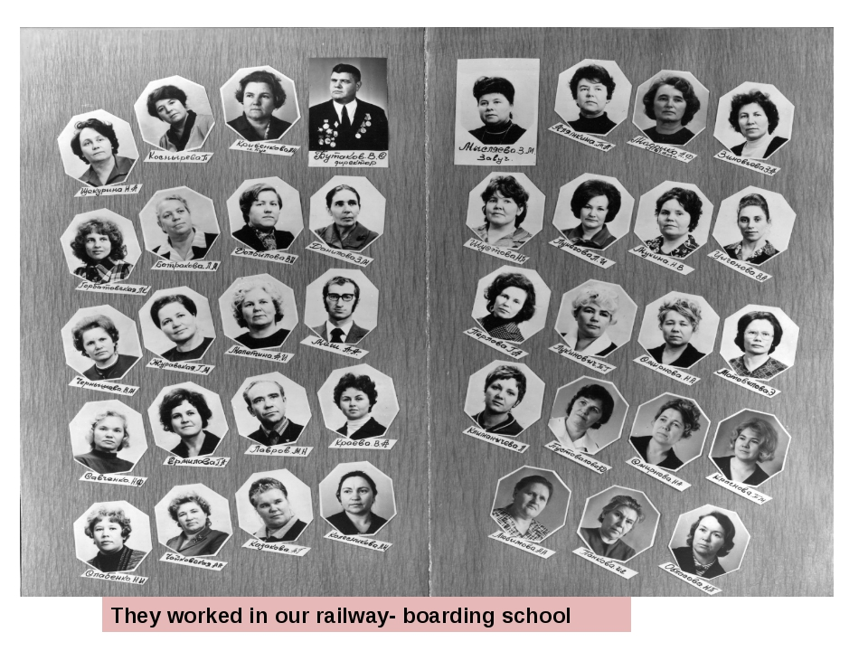 They worked in our railway- boarding school