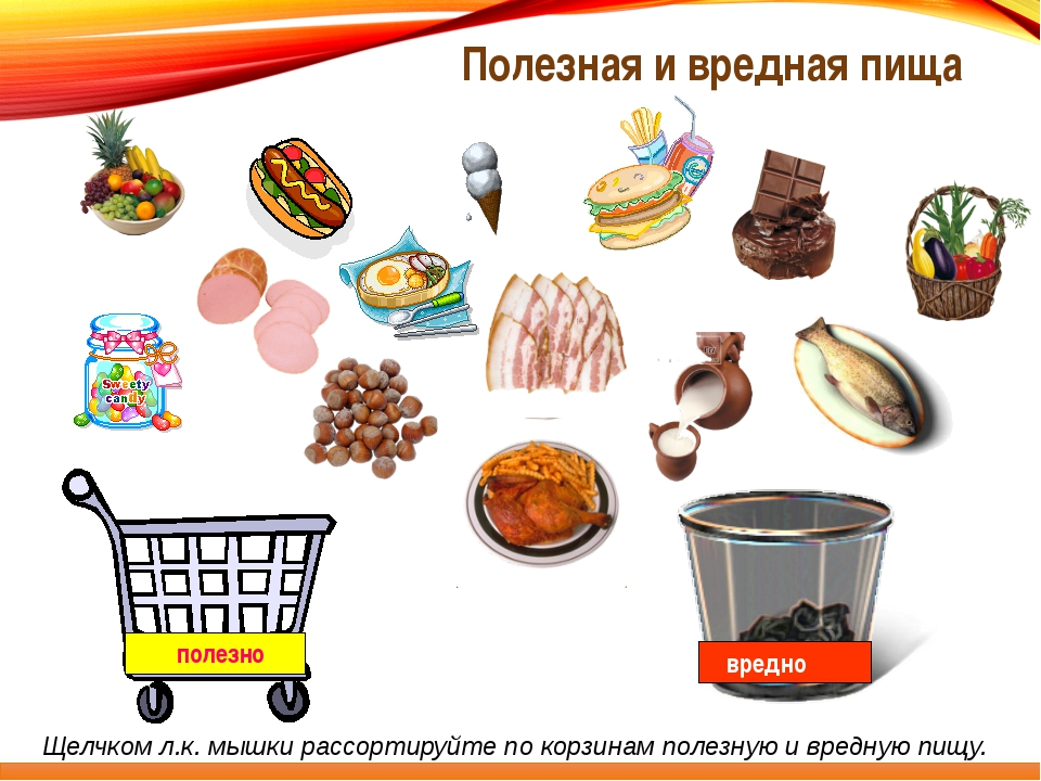 Полезная и неполезная еда в картинках