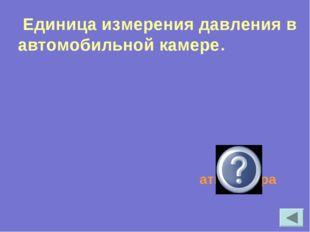 Единица измерения давления в автомобильной камере. атмосфера