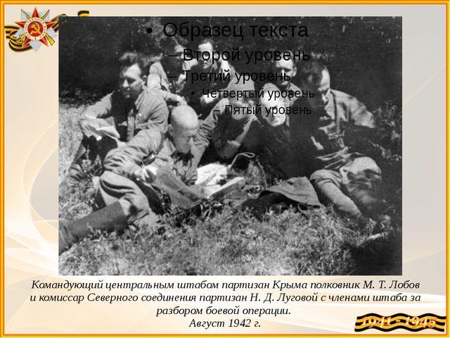 Командующий центральным штабом партизан Крыма полковник М.Т.Лобов и комисса...