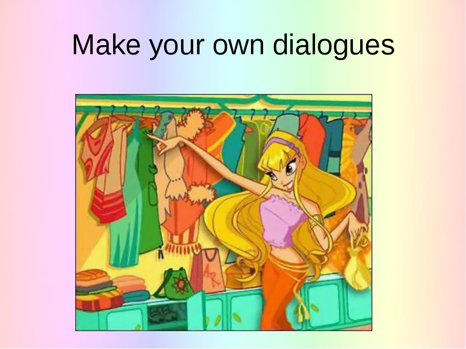 Make your own dialogues