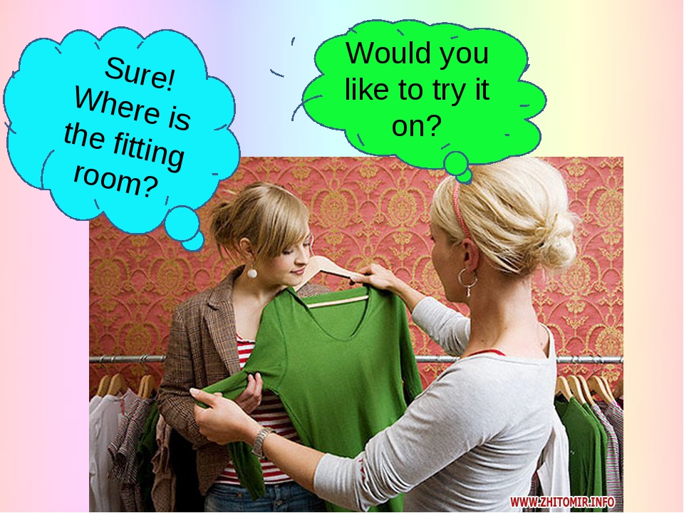 Would you like to try it on? Sure! Where is the fitting room?
