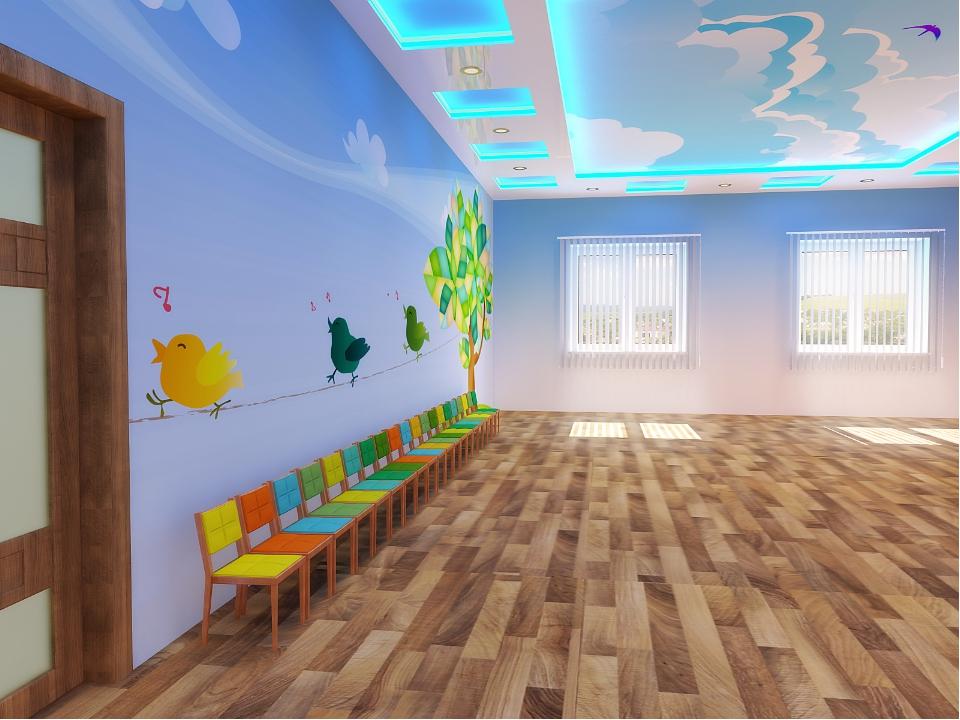 Интерьер музыкального зала детского сада фото