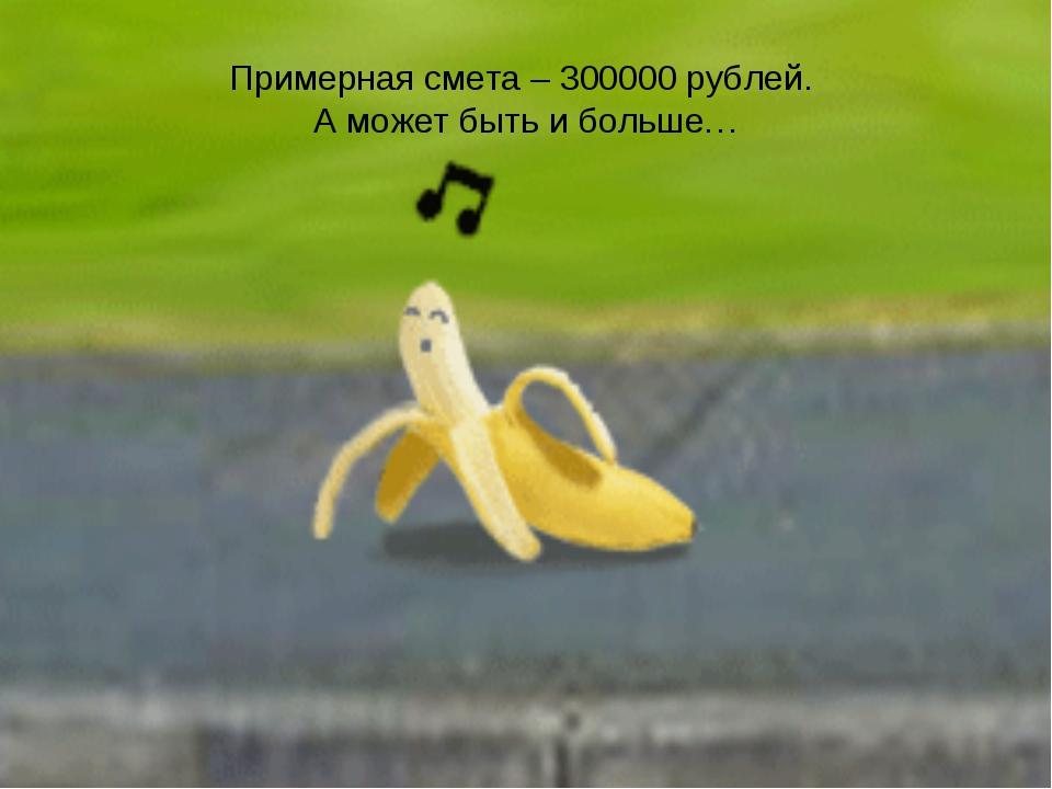 Примерная смета – 300000 рублей. А может быть и больше…