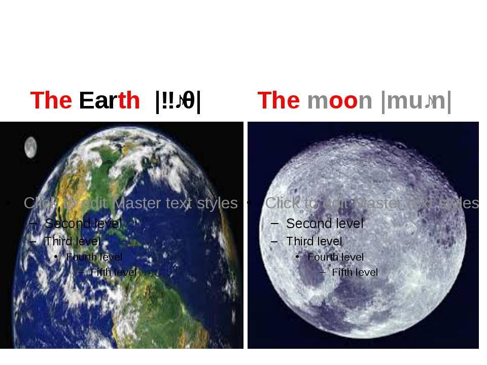 The Earth |ɜːθ| The moon |muːn|