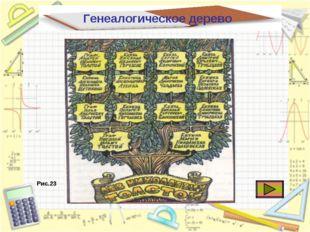 Генеалогическое дерево Рис.23