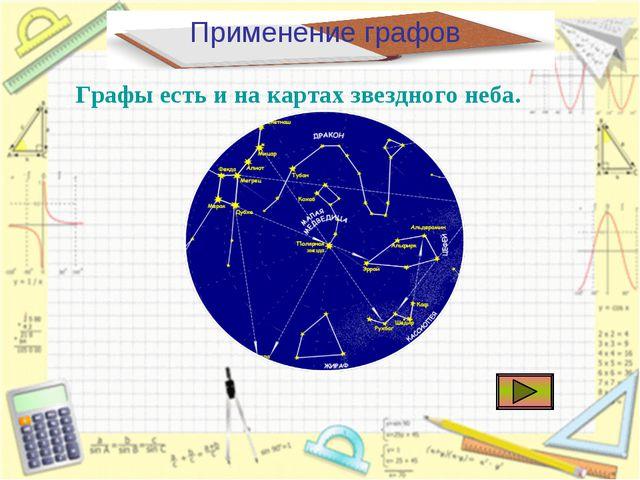 Применение графов Графы есть и на картах звездного неба.