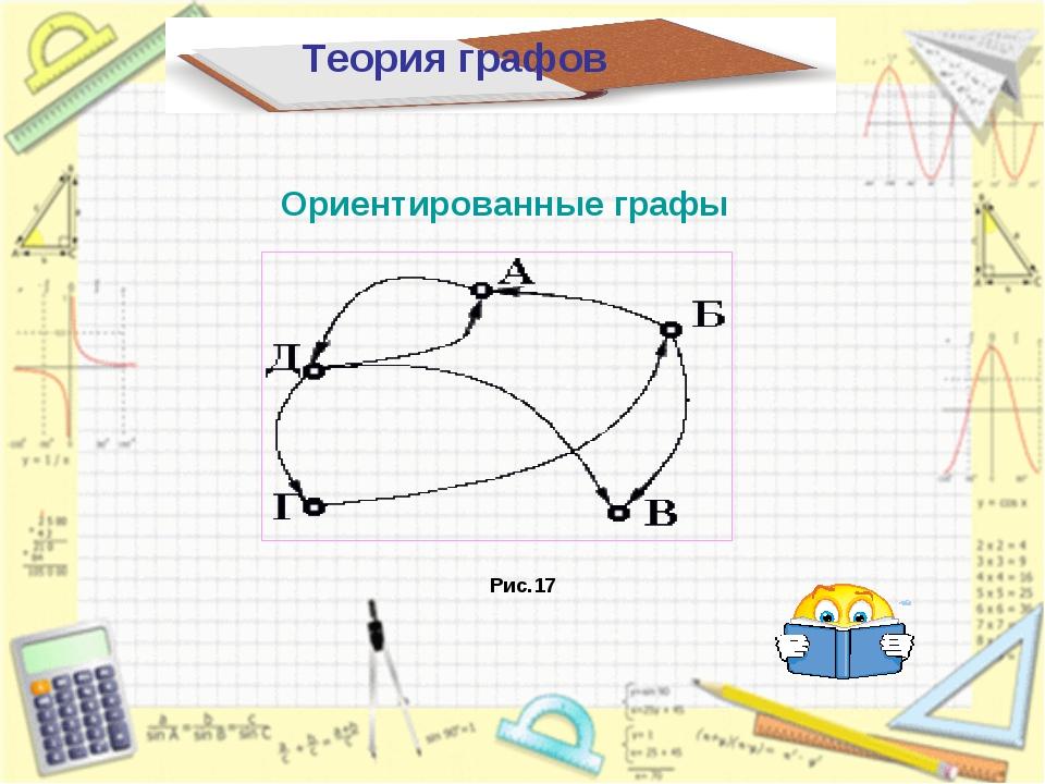 Теория графов Ориентированные графы Рис.17