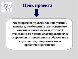 Цель проекта сформировать уровень знаний, умений, навыков, необходимых для ус