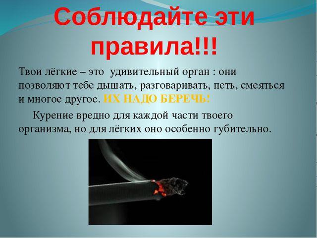 Соблюдайте эти правила!!! Твои лёгкие – это удивительный орган : они позволяю...