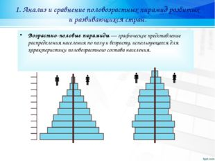 1. Анализ и сравнение половозрастных пирамид развитых и развивающихся стран.