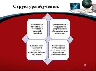 Структура обучения: