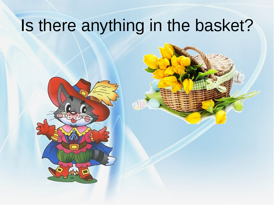 Is there anything in the basket?