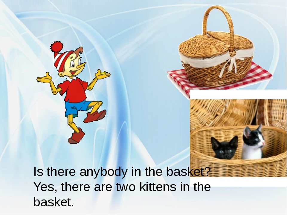 Is there anybody in the basket? Yes, there are two kittens in the basket.
