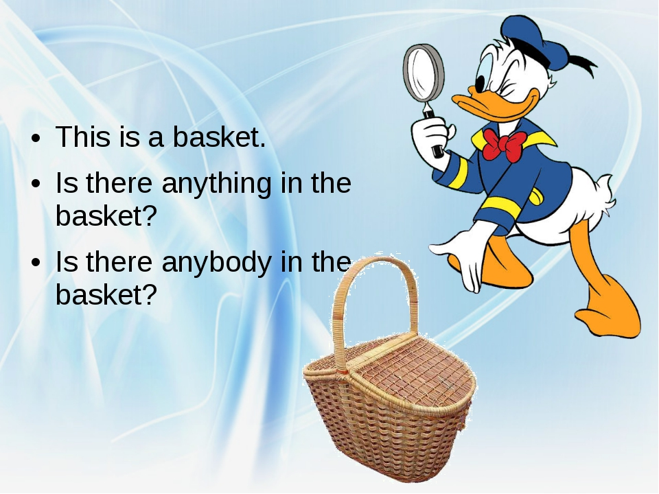 This is a basket. Is there anything in the basket? Is there anybody in the b...