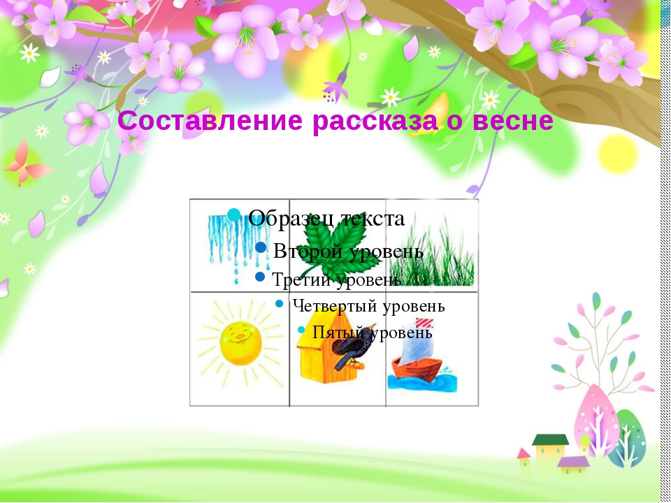Составление рассказа о весне