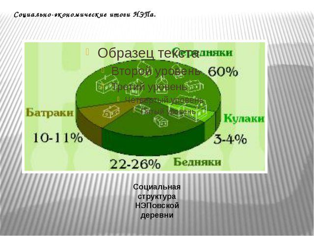 Социально-экономические итоги НЭПа. Социальная структура НЭПовской деревни