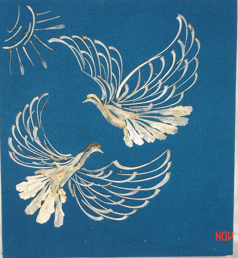 Картины своими руками из рыбьих костей