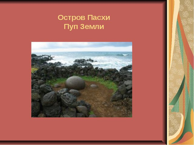 Остров Пасхи Пуп Земли
