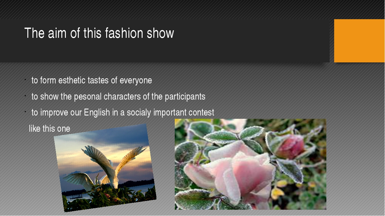 The aim of this fashion show