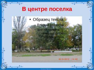 В центре поселка FokinaLida.75@mail.ru