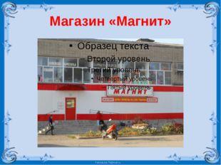 Магазин «Магнит» FokinaLida.75@mail.ru