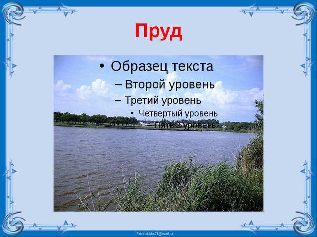 Пруд FokinaLida.75@mail.ru