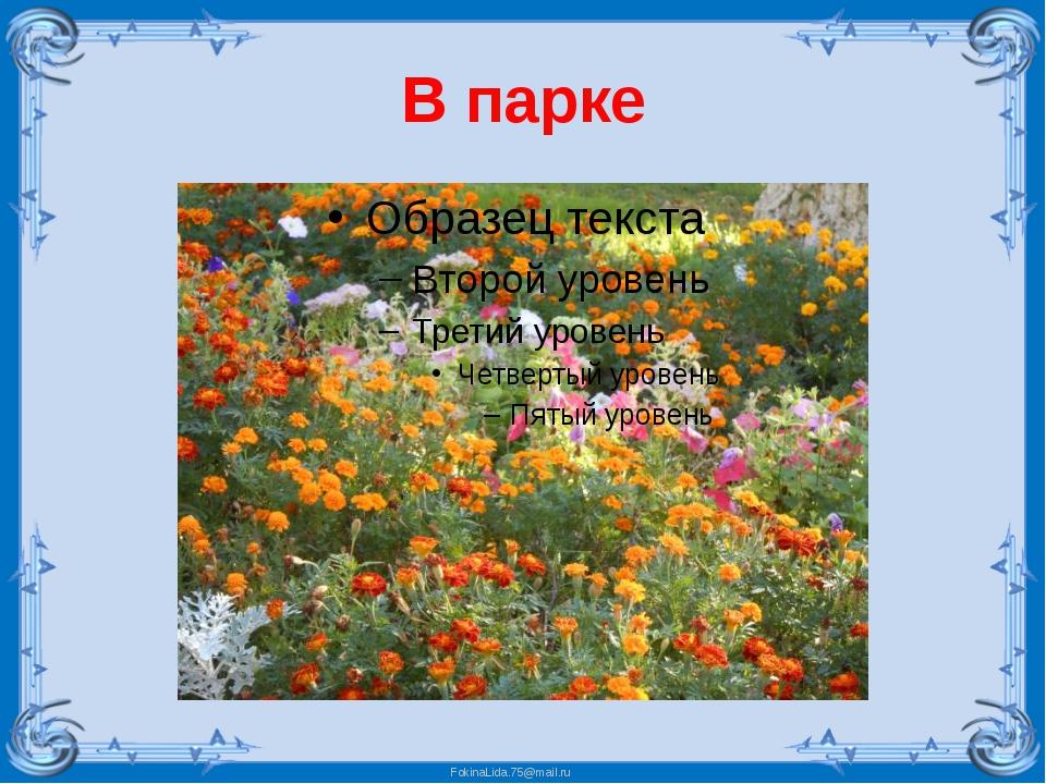 В парке FokinaLida.75@mail.ru