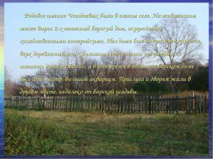 Родовое имение Чегодаевых было в нашем селе. На живописном месте вырос 2-х