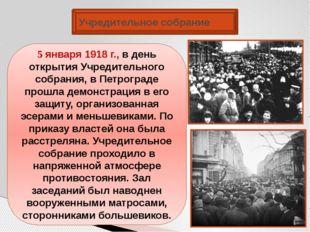 Учредительное собрание 5 января 1918 г., в день открытия Учредительного собра