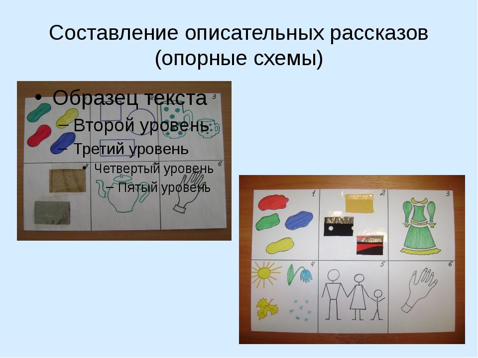Составление описательных рассказов (опорные схемы)
